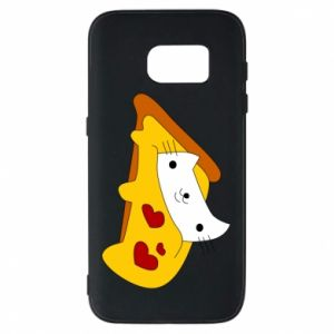 Phone case for Samsung S7 Cat - Pizza