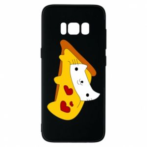 Phone case for Samsung S8 Cat - Pizza