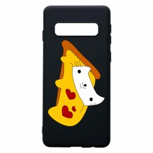 Phone case for Samsung S10 Cat - Pizza