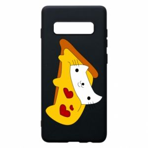 Phone case for Samsung S10+ Cat - Pizza