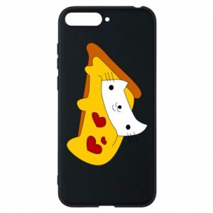 Phone case for Huawei Y6 2018 Cat - Pizza