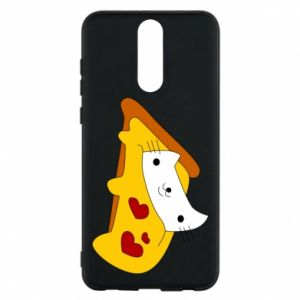 Phone case for Huawei Mate 10 Lite Cat - Pizza