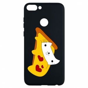 Phone case for Huawei P Smart Cat - Pizza