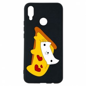 Phone case for Huawei P Smart Plus Cat - Pizza