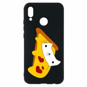 Phone case for Huawei P20 Lite Cat - Pizza