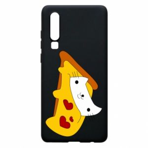Phone case for Huawei P30 Cat - Pizza