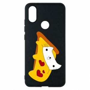 Phone case for Xiaomi Mi A2 Cat - Pizza