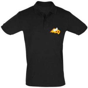Men's Polo shirt Cat - Pizza