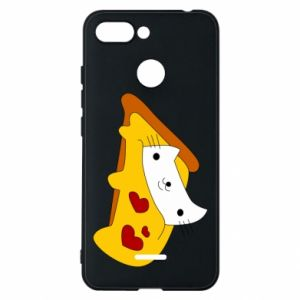 Phone case for Xiaomi Redmi 6 Cat - Pizza