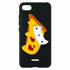 Phone case for Xiaomi Redmi 6A Cat - Pizza