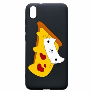 Phone case for Xiaomi Redmi 7A Cat - Pizza