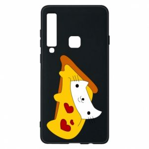 Phone case for Samsung A9 2018 Cat - Pizza