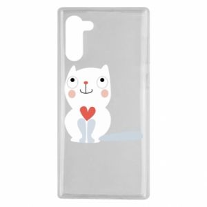 Etui na Samsung Note 10 Cat with a big heart