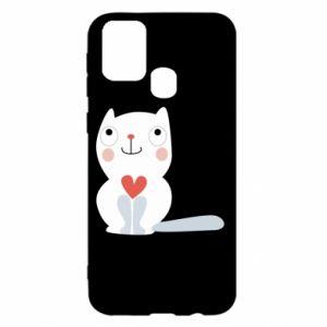 Etui na Samsung M31 Cat with a big heart