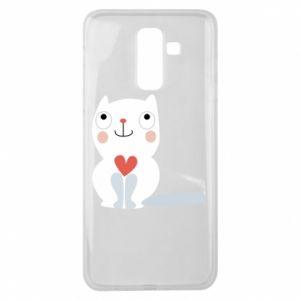 Etui na Samsung J8 2018 Cat with a big heart