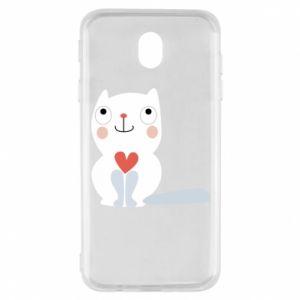 Etui na Samsung J7 2017 Cat with a big heart