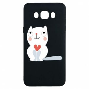 Etui na Samsung J7 2016 Cat with a big heart