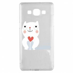 Etui na Samsung A5 2015 Cat with a big heart