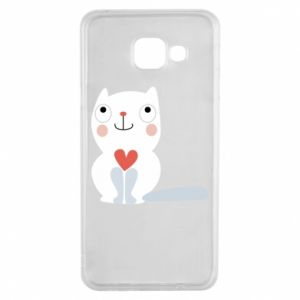 Etui na Samsung A3 2016 Cat with a big heart