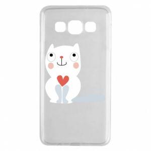 Etui na Samsung A3 2015 Cat with a big heart