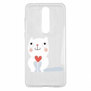 Etui na Nokia 5.1 Plus Cat with a big heart