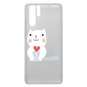 Etui na Huawei P30 Pro Cat with a big heart