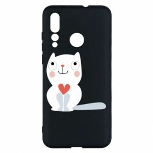 Etui na Huawei Nova 4 Cat with a big heart