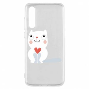 Etui na Huawei P20 Pro Cat with a big heart