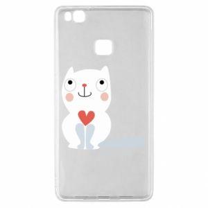 Etui na Huawei P9 Lite Cat with a big heart