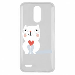 Etui na Lg K10 2017 Cat with a big heart