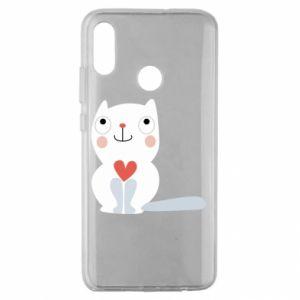 Etui na Huawei Honor 10 Lite Cat with a big heart