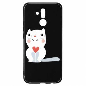 Etui na Huawei Mate 20 Lite Cat with a big heart