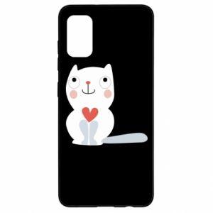 Etui na Samsung A41 Cat with a big heart