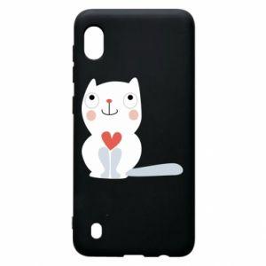 Etui na Samsung A10 Cat with a big heart