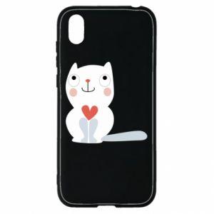 Etui na Huawei Y5 2019 Cat with a big heart