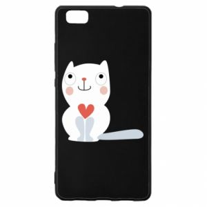 Etui na Huawei P 8 Lite Cat with a big heart