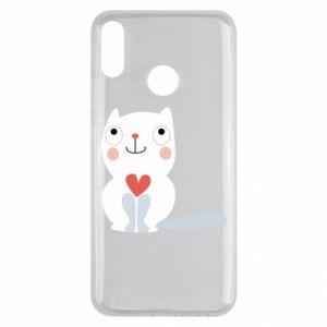 Etui na Huawei Y9 2019 Cat with a big heart