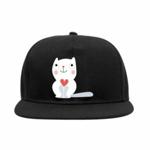 SnapBack Cat with a big heart