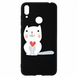 Etui na Huawei Y7 2019 Cat with a big heart