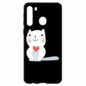 Etui na Samsung A21 Cat with a big heart