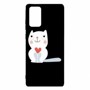 Etui na Samsung Note 20 Cat with a big heart