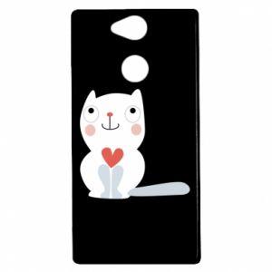 Etui na Sony Xperia XA2 Cat with a big heart