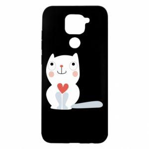 Etui na Xiaomi Redmi Note 9/Redmi 10X Cat with a big heart