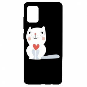 Etui na Samsung A51 Cat with a big heart