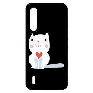 Etui na Xiaomi Mi9 Lite Cat with a big heart