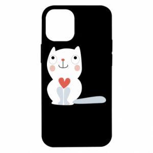Etui na iPhone 12 Mini Cat with a big heart