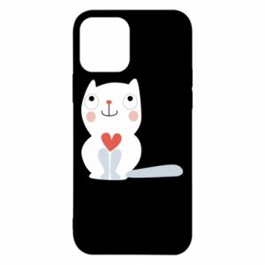 Etui na iPhone 12/12 Pro Cat with a big heart
