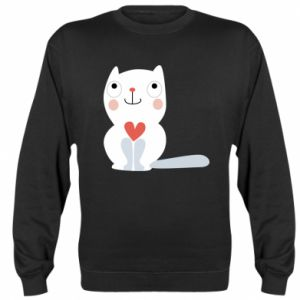Bluza Cat with a big heart