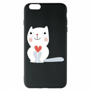 Phone case for iPhone 6 Plus/6S Plus Cat with a big heart