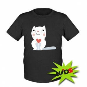 Kids T-shirt Cat with a big heart